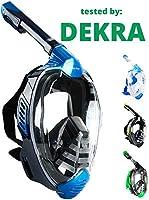 Khroom® Von DEKRA® geprüfte CO2 sichere Schnorchelmaske Vollmaske   bekannt aus YouTube   Seaview X - Tauchmaske für...