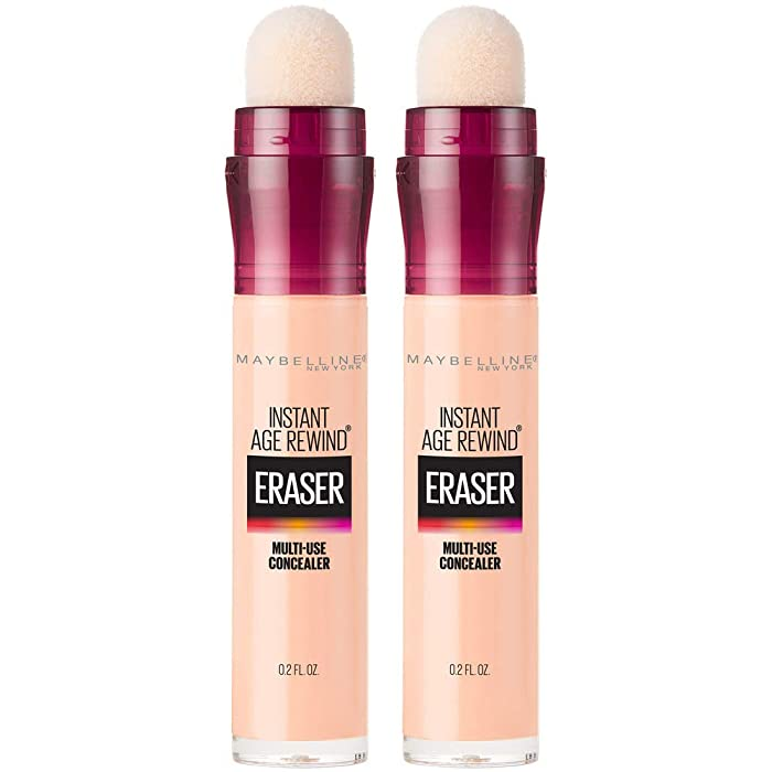 Maybelline Instant Age Rewind Eraser Dark Circles Treatment Multi-Use Concealer, Light Honey, 0.2 Fl Oz (Pack of 2) (Packaging May Vary)