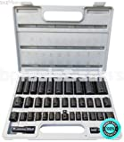 SKEMiDEX---38PC 3/8'' & 1/2'' DUO COMBO IMPACT SOCKET SET DEEP & SHALLOW METRIC/SAE FLANK DR. Chrome Molybdenum Alloy Steel (CR-MO) For Exceptional Strength and Durability