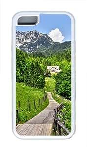 The Road To Green Heaven Custom iPhone 5C Case and Cover - TPU - White