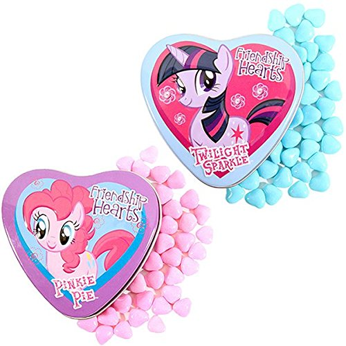 Boston America My Little Pony Friendship Hearts Rainbow Dash, Pinkie Pie & Twilight Sparkle 18 Candy Tins -