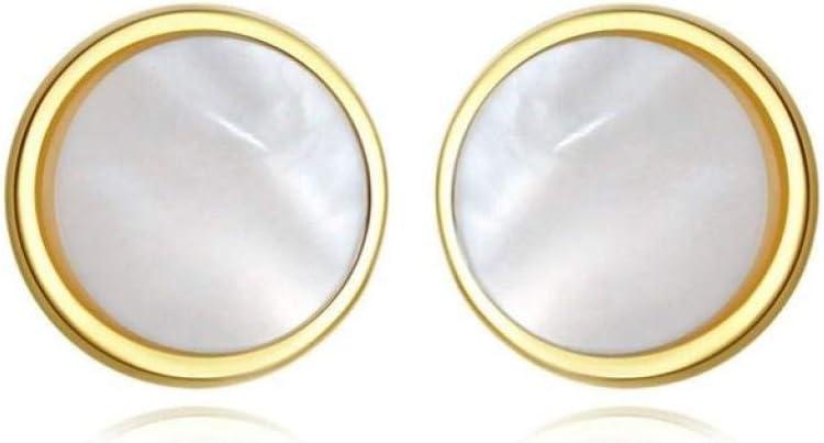 Empty 925 Perlas de Plata esterlina Pendientes de Piedras Preciosas Pendientes de Tuerca Boda Regalo romántico de la joyería