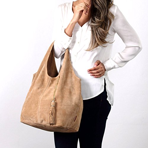 Leather Magnus Shoulder Unlined Handbags Taupe BURGAN Hobo S6zAqwtxx
