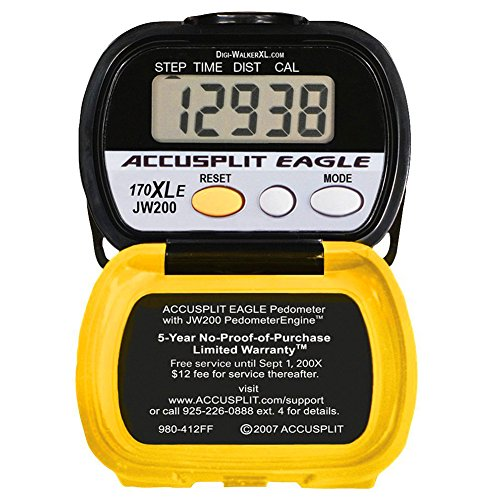 Digiwalker Pedometer (Accusplit AE170XLE Pedometer, Yellow/Black)