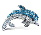 Puzzled Dolphin Refrigerator Sparkling Magnets with Crystals - Ocean / Sea Life Theme - Unique Affordable Gift and Souvenir - Item #7201