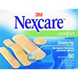 Nexcare Comfort Bandages, Assorted Sizes, 80 Count