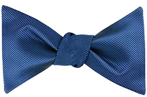 (Formal Bow Ties for Men - Self Tie Mens Bowtie Tuxedo Wedding Bow Tie Bowties (Navy Stripe))
