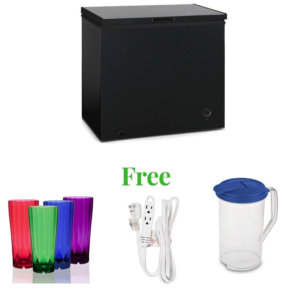 King 2 Door Freezer (19.88 x 18.50 x 33 Inches, Black)