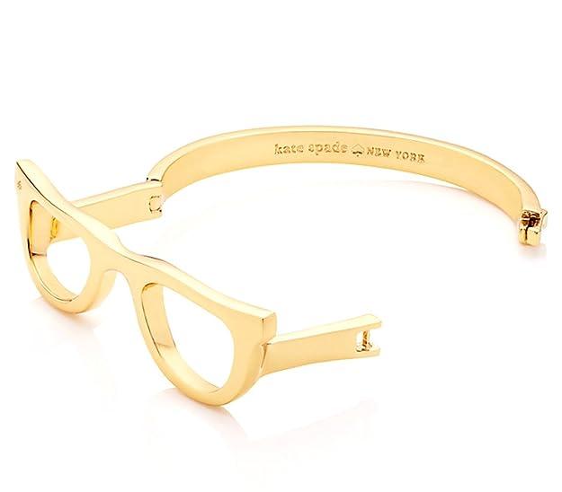 454923dbe931b Kate Spade Lookout Glasses Bangle Bracelet, Gold