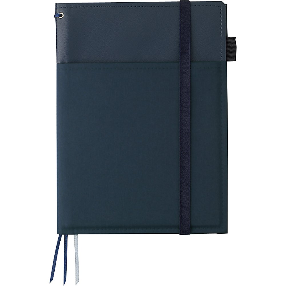 Kokuyo cover notebook systemic ring notebook corresponding A5 tone leather navy blue B ruled 50 sheets Bruno -V685B-DB