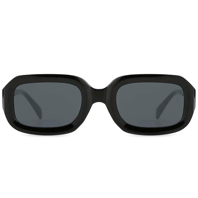 Amazon.com: modesoda nuevo Vintage Suqare marco anteojos de ...