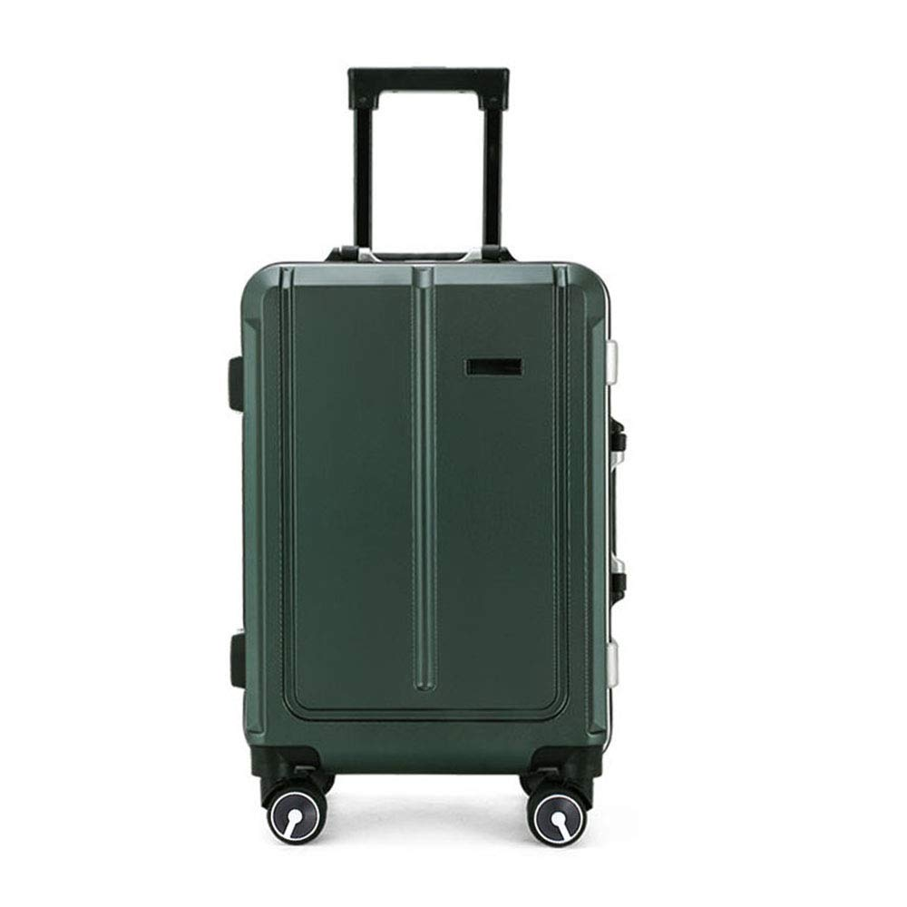 PC の軽量 Hardshell ビジネス高容量の荷物ミュートローリングホイールロック, キャリー Ons 20 インチ B07SD5F22Q Green