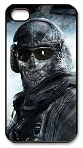 LZHCASE Personalized Protective Case for iphone 4 - Call of Duty Modern Warfare 2 Ghost by supermalls