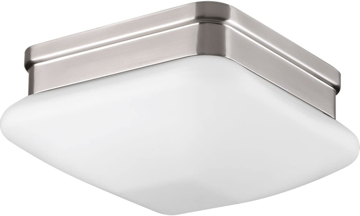 Progress Lighting P3991-09 Transitional One Light Flush Mount from Appeal Collection in Pwt, Nckl, B/S, Slvr. Finish, Brushed Nickel