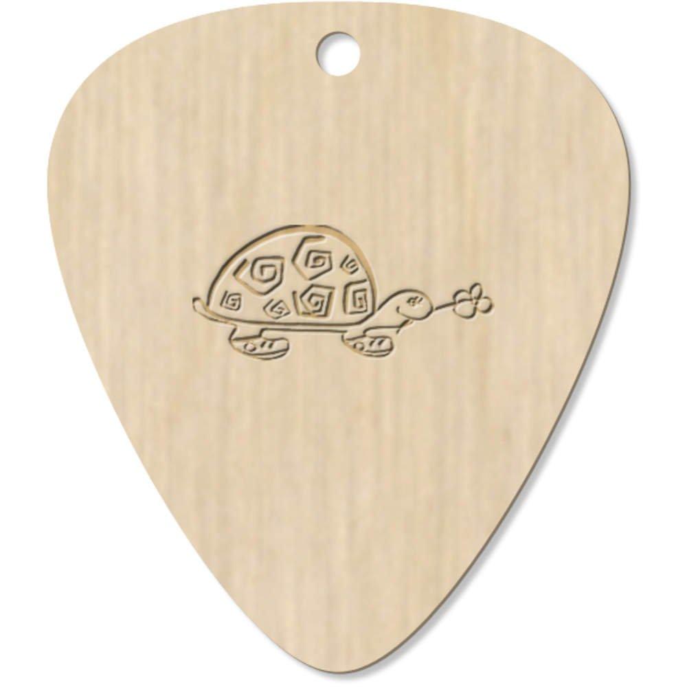 Pendentif plectre GP00002424 Azeeda 7 x Tortue aux Fleurs m/édiator pour Guitare