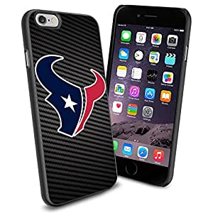 NFL Houston Texan Cool iPhone 6 Smartphone Case Cover Collector iphone TPU Rubber Case Black