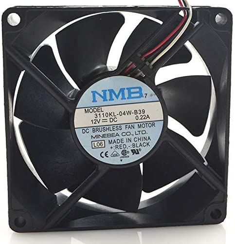 for NMB 3110KL-04W-B39 0.22A 12V 3-Wire 8CM Cooling Fan