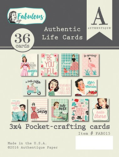 - Authentique Paper FAB015 Fabulous Authentic Life Card, Multicolor
