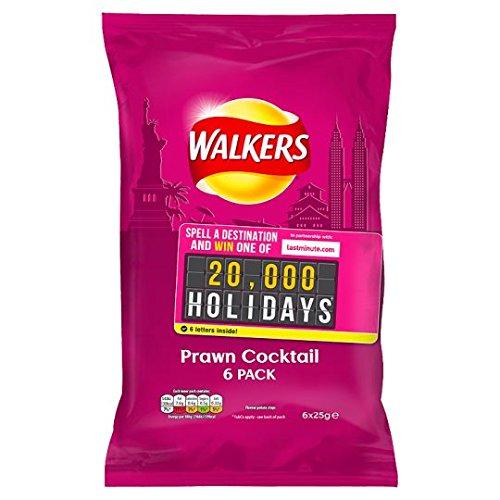 Walkers Crisps - Prawn Cocktail (6x25g)