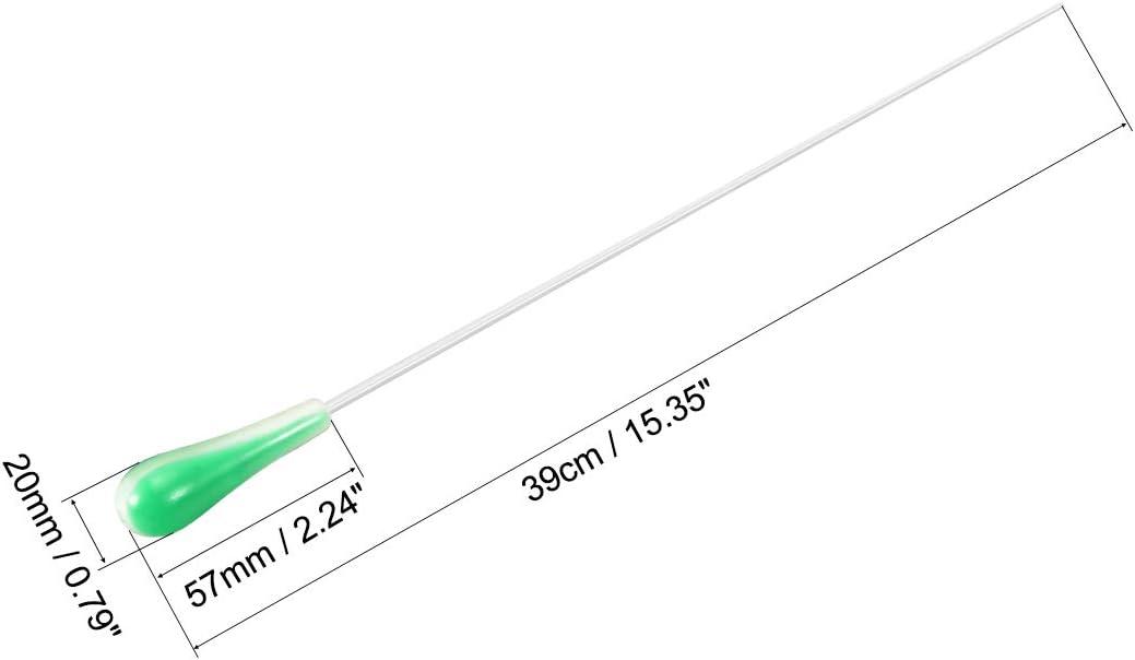 sourcing map Music Conductor Baton Orchestra Baton 39cm//15.35inch Length Brown Red Black Green Resin Handle Music Conducting Baton 4pcs