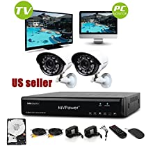 Gaintree Full protection and Reliability–2CH 960H P2P HDMI DVR with 2pcs 600TVL Hi-Resolution Cameras and 500GB HDD