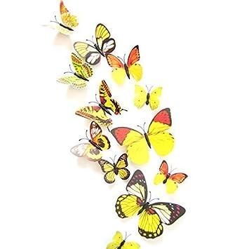 Butterfly Stickers   12 Pcs PVC Magnet U0026quot;3D Butterfliesu0026quot; Wall  Stickers   Wall Part 60