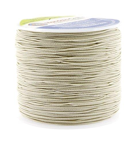 Mandala Crafts 0.6mm 80M Round Rubber Fabric Crafting Stretch Elastic Cord String ()