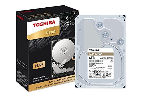 Toshiba N300 6TB NAS 3.5-Inch Internal Hard Drive- SATA 6 Gb