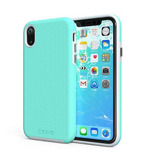 iPhone XR Case, Crave Dual Guard Protection Series Case for Apple iPhone XR (6.1 inch) - Mint/Grey