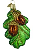 Old World Christmas Oak Leaf with Acorns Glass Blown Ornament