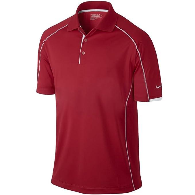 9e4599b6e31dc2 Nike Golf Men s Tech Core Color Block Polo UNIVERSITY RED WHITE  WHITE S