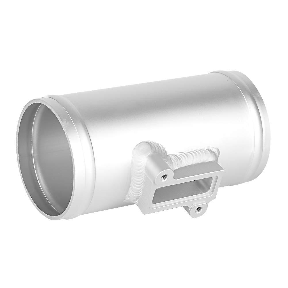 70mm Qiilu Car Air Flow Sensor Adapter Intake Meter Mount Base Automobile Engine Air Flow Meter MAF Sensor Base Modified Accessories Aluminum Material