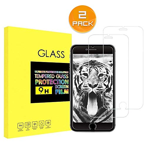 Screen Protector for iPhone 7, QWG 9H Hardness HD Tempered Glass Screen Protector for Apple iPhone 7 2 Pack