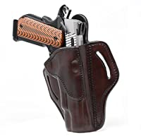 "1791 GUNLEATHER 1911 Holster, Right Hand OWB Leather Gun Holster for Belts fits All 1911 Models with 4"" and 5"" Barrels"