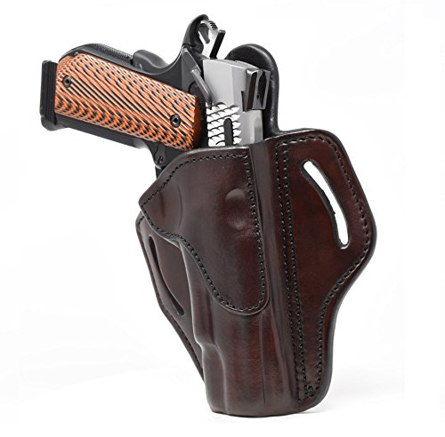 """1791 GUNLEATHER 1911 Holster, Right Hand OWB Leather Gun Holster for Belts fits All 1911 Models with 4"""" and 5"""" Barrels from 1791 GUNLEATHER"""