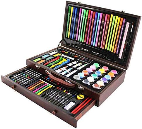 水彩毛筆 カラー筆ペン 描画と大人のぬりえのためのスケッチ色鉛筆クレヨンボックスの描画設定のための130個のアートセット 画材 スケッチブックイラスト (色 : 褐色)