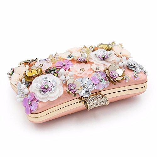 Clutch Dames nbsp; Mariage nbsp;Femmes de De Sacs MAOLLMM nbsp; Floral Sac Femelle Embrayages Pochettes Fleur Soirée x6qURagYw