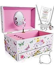 Unicorn Jewelry Box for Girls - 3 Unicorn Gifts for Girls - Girls Jewelry Box - Girls Jewelry Set - Unicorn Music Box for Girls - Unicorn Jewelry for Girls