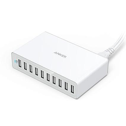 Amazon.com: Cargador Multi-Puerto USB 60W de 10 puertos de ...