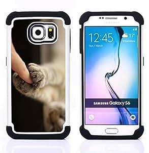 For Samsung Galaxy S6 G9200 - kitten paws cute shorthair claws cat Dual Layer caso de Shell HUELGA Impacto pata de cabra con im??genes gr??ficas Steam - Funny Shop -