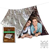 DON'T DIE IN THE WOODS Ultralight Mylar Emergency Shelter...