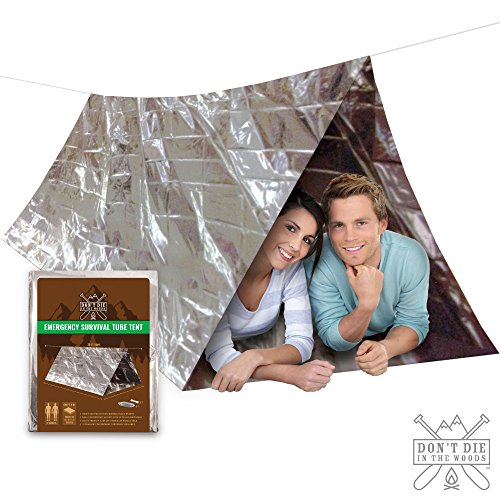 DONT-DIE-IN-THE-WOODS-Emergency-Shelter-Survival-Tent--2-Person-8x5-Large-Tube-Tent--Best-Survival-Gear-For-Hiking-Camping-Backpacking-First-Aid-Kits--Use-As-Mylar-Blanket-Sleeping-Bag-Bivey