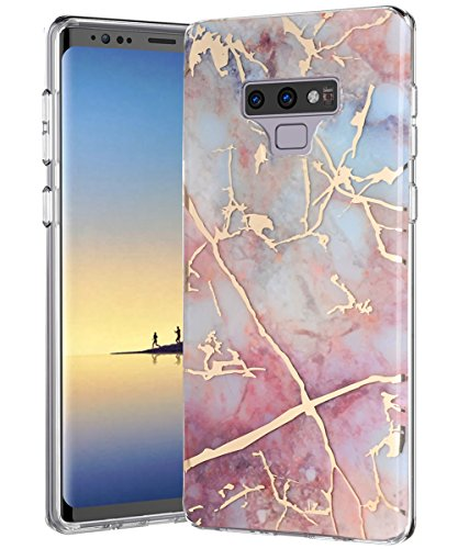 Galaxy Note 9 Case,Samsung Galaxy Note 9,Spevert Marble Pattern Hybrid Hard Back Soft TPU Raised Edge Ultra-Thin Slim Protective Case Cover for Samsung Galaxy Note 9 2018 - Colorful