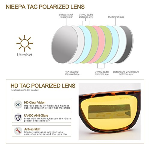 41818ef1c5 HD Night Vision Polarized Sunglasses Yellow Lens Driving Sun Glasses ...