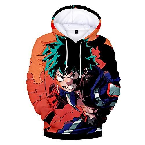 Boku No Hero Academia Hoodie 3D Printed Hooded Pullover Sweatshirt (X-Large, Color 3)