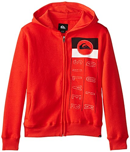 Quiksilver Big Boys' In Check Hoodie, Poinciana, Large