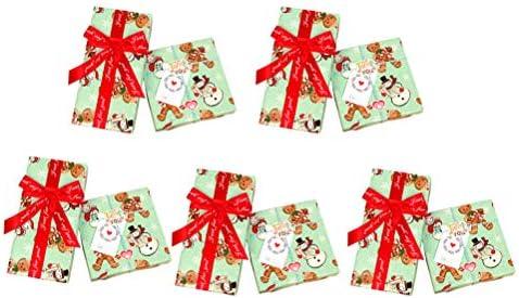 TOYANDONA - 5 bolsas de regalo de Navidad con diseño de copo ...