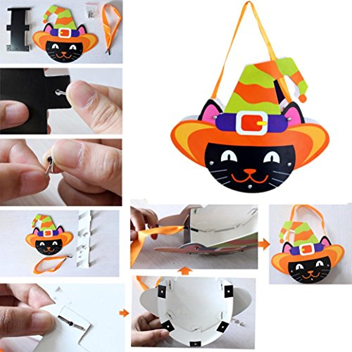 Halloween Candy Bag,DIY Cute Paper Candy Bag Package For Children Party Storage Bag Of Sugar By Makaor (Small Size, # (Diy Halloween Party Favor Bags)