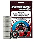 12x28x8 Rubber Sealed Ball Bearings 6001-2RS (10 Units)