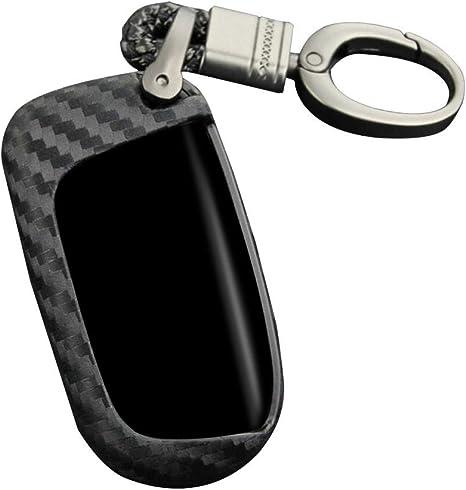 Shoh Autoschlüssel Abdeckung Für Jeep Schutzhülle Key Holder Mit Schlüsselring Schlüsseletui Merchandise Schlüsselanhänger Schlüsselring Schlüsselbund Geschenk Autoschlüsselring Carbon Fiber Black Küche Haushalt